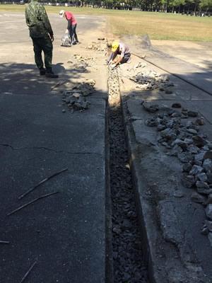 屏東某部隊灌漿泥作工程-屏東道路翻修