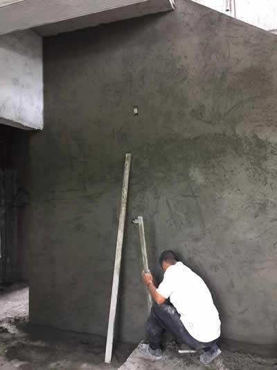 屏東萬巒鄉蓋房子-豪宅泥作吊線及粗底