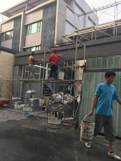 高雄林園區抿石工程-老屋翻修
